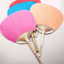 personalized folding fans for weddings personalized paddle fan palm and bamboo hand fans wedding favors