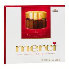 where to buy merci chocolates storck merci finest assortment of european chocolates 7 0 oz