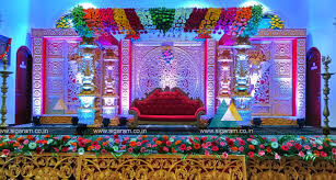 flower decorations wedding and reception stage decoration at nt mahal 100ft road
