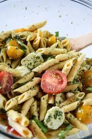 easy pesto and mozzarella pasta salad a simplified life