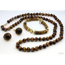 cuff link bracelet images Tigers eye jewelry set necklace bracelet cuff link set jpg