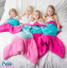 mermaid tail blanket pink teal cuddle tails blanket by fin fun