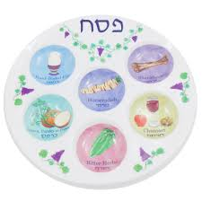 bitter herbs on seder plate passover gifts judaica plastic reusable seder plate