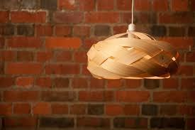 wood veneer light shade braid felt