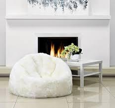 living room bean bags sheepskin bean bag parker wool