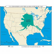 us map alaska map of us expansion the alaska purchase 1867 from onlyglobes