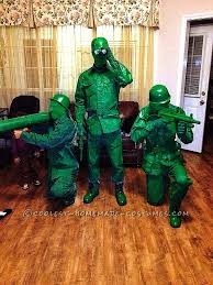 Army Soldier Halloween Costume Green Plastic Army Toy Soldier Group Halloween Costume Group