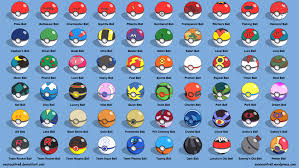 all poke balls labeled by seancantrell on deviantart