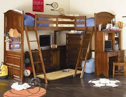 Twin Metal Loft Bed With Desk Bathroom Captivating Vintage Look Loft Bunk Beds With Desk Lamp