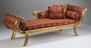 French Style Chaise Lounge Chairs 19th Century French Empire Style Chaise Lounge With Jacquard