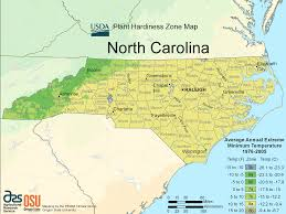North Carolina State Map by North Carolina Plant Hardiness Zone Map U2022 Mapsof Net