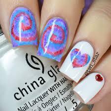 twi star nail art blog tie dye acrylic paint nail art