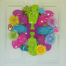 flip flop wreath flip flop wreath adventurous crafts flip flop