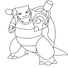 pokemon coloring pages blastoise cecilymae