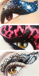 creative looks lip and eye tattoos from