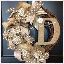 burlap wreaths burlap wreath grapevine wreath monogram wreath summer wreat