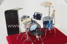 miniature blue drum set ornament and mini musical