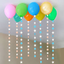 4m hanging paper garland balloon ornaments wall ceiling curtain