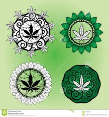 marijuana leaf design stamp design stock illustration image