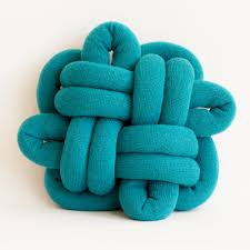 notknot cushions by umemi knitted wool knot pillows on