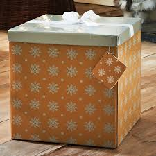 large gift box with bow tag b m