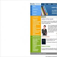 books online template free website templates in css html js