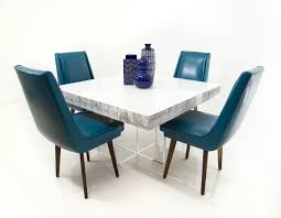Modern Square Dining Room Sets Modern Square Dining Table In White Recycled Wood Modshop