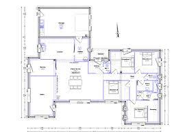 plan plain pied 4 chambres plan maison plain pied en v ooreka 170 m2 newsindo co