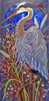 great blue heron great blue heron painting great blue heron