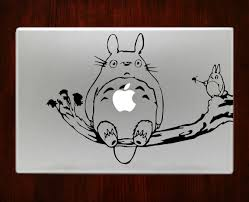 spirited away and neighbor totoro studio ghibli decal stickers for totoro with friends on tree branch decal sticker for macbook pro air
