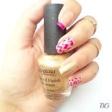diy gold chevron nail design step by step nail art tutorial