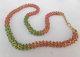 indian beads necklace images South indian jewelry bollywood gold plated ruby beads necklace jpg