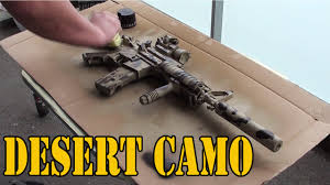 desert camo painting m4 youtube
