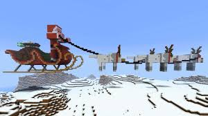 minecraft santa in sleigh with reindeer explodes youtube