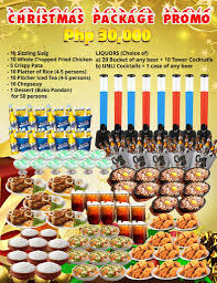g a restobar christmas party package best food in town
