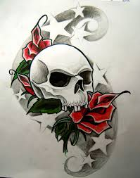 skull roses and by widenius on deviantart