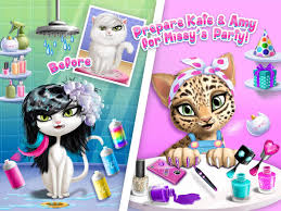 cat hair salon birthday party kitty haircut care android apps