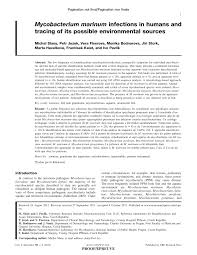 Aquarist Resume Mycobacterium Marinum Infections In Humans And Tracing Of Its