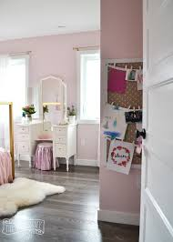 A Pink White  Gold Shabby Chic Glam Girls Bedroom Reveal - Shabby chic bedroom design ideas