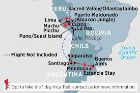 Peru South America Map by Peru Tours Travel U0026 Trips Peregrine Adventures Gb
