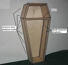 coffin bookshelf free coffin plans how to build a coffin how to build a