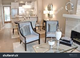 Dining Room At The Modern Outlook Luxury Living Suite Dining Room Stock Photo 118758337