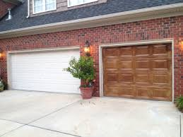 gel stained garage doors to look like wood painted pinterest