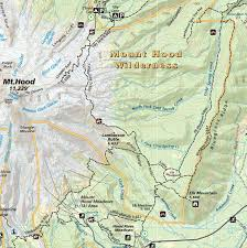 United States Map With Mileage Scale by Mt Hood Area Hiking Riding U0026 Climbing Map U0026 Guide Oregon