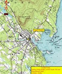 map of camden maine detour plan for downtown camden as bakery bridge gets overhauled