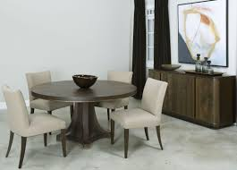 ad modern organics smokey quartz camby round dining table from