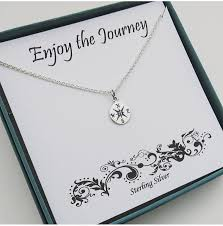 necklace gift images Retirement gift for women sterling silver compass necklace jpg
