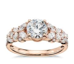 lhuillier petal garland engagement ring in 18k