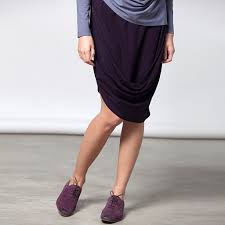 sample sale draped jersey skirt size s m color aubergine
