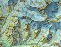 Washington State Relief Map by Himalayan Glaciers Beautiful Old Map How Much Of Them Is Left